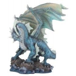 Water Dragon Blue Statue Gothic Plus Gothic Clothing, Jewelry, Goth Shoes & Boots & Home Decor