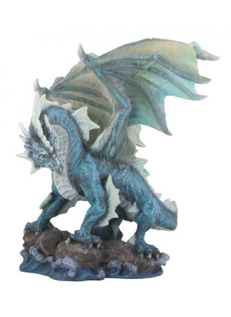 Water Dragon Blue Statue at Gothic Plus, Gothic Clothing, Jewelry, Goth Shoes & Boots & Home Decor