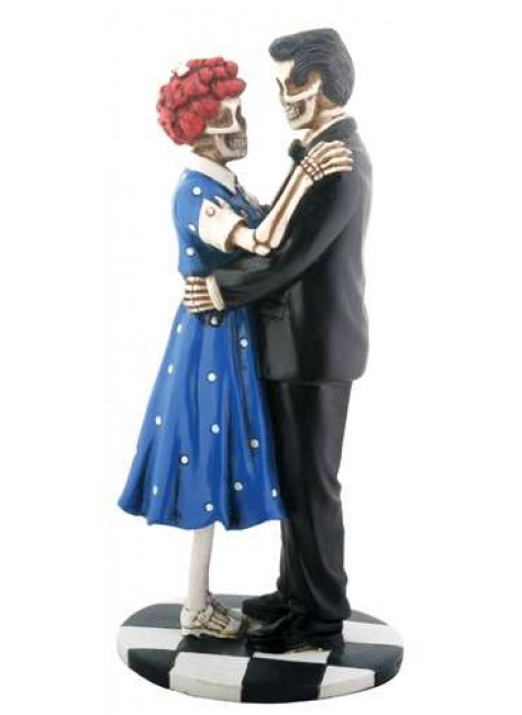 Endless Love 50s Style Skeletal Statue at Gothic Plus, Gothic Clothing, Jewelry, Goth Shoes & Boots & Home Decor