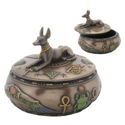 Anubis Egyptian Jackal Round Trinket Box Gothic Plus Gothic Clothing, Jewelry, Goth Shoes & Boots & Home Decor