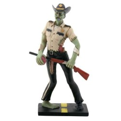 Zombie Sheriff Statue Gothic Plus Gothic Clothing, Jewelry, Goth Shoes & Boots & Home Decor