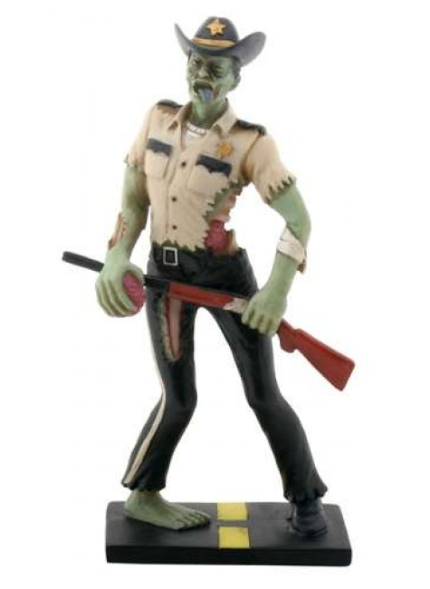 Zombie Sheriff Statue at Gothic Plus, Gothic Clothing, Jewelry, Goth Shoes & Boots & Home Decor