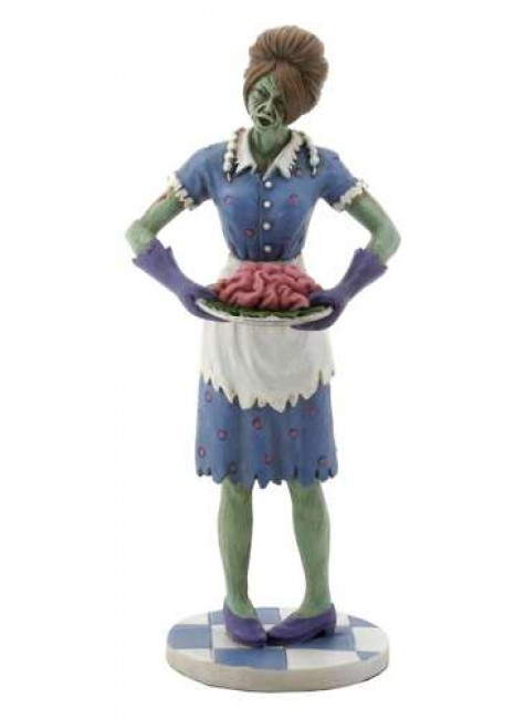 Zombie Housewife Statue at Gothic Plus, Gothic Clothing, Jewelry, Goth Shoes & Boots & Home Decor