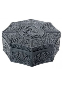 Celtic Dragon Octagonal Box Gothic Plus Gothic Clothing, Jewelry, Goth Shoes & Boots & Home Decor