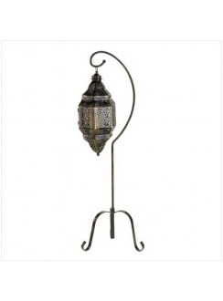 Moroccan Candle Lantern with Stand Gothic Plus Gothic Clothing, Jewelry, Goth Shoes & Boots & Home Decor