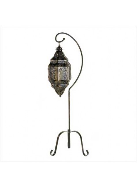 Moroccan Candle Lantern with Stand at Gothic Plus, Gothic Clothing, Jewelry, Goth Shoes & Boots & Home Decor