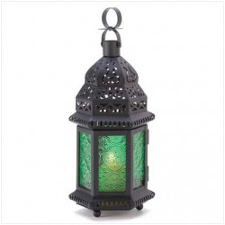 Green Glass Moroccan Candle Lantern Gothic Plus Gothic Clothing, Jewelry, Goth Shoes & Boots & Home Decor