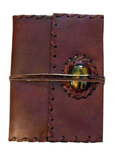 Leather Gemstone Blank Book With Cord - 7 Inches at Gothic Plus, Gothic Clothing, Jewelry, Goth Shoes & Boots & Home Decor