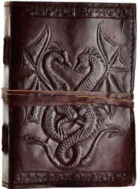 Double Dragon Leather Journal at Gothic Plus, Gothic Clothing, Jewelry, Goth Shoes & Boots & Home Decor