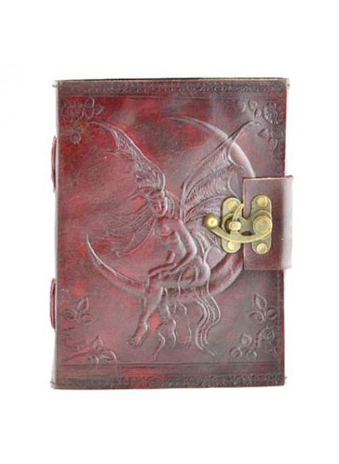 Fairy Moon 8 Inch Leather Journal with Latch at Gothic Plus, Gothic Clothing, Jewelry, Goth Shoes & Boots & Home Decor
