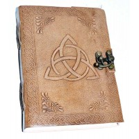 Triquetra Leather Blank 7 Inch Journal with Latch
