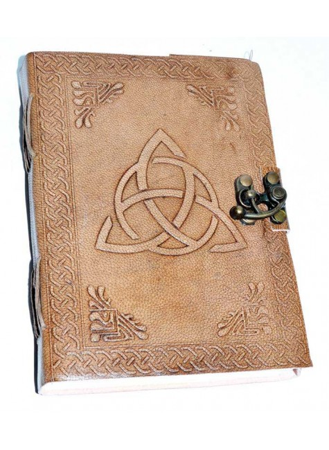 Triquetra Leather Blank 7 Inch Journal with Latch at Gothic Plus, Gothic Clothing, Jewelry, Goth Shoes & Boots & Home Decor