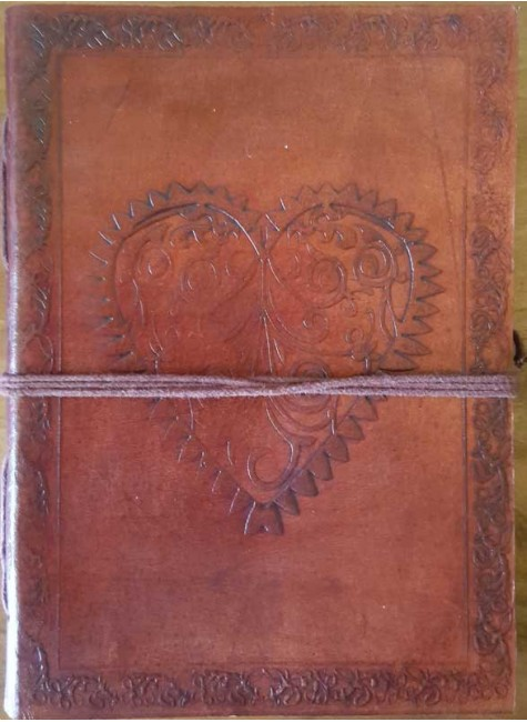 Heart Leather Journal at Gothic Plus, Gothic Clothing, Jewelry, Goth Shoes & Boots & Home Decor