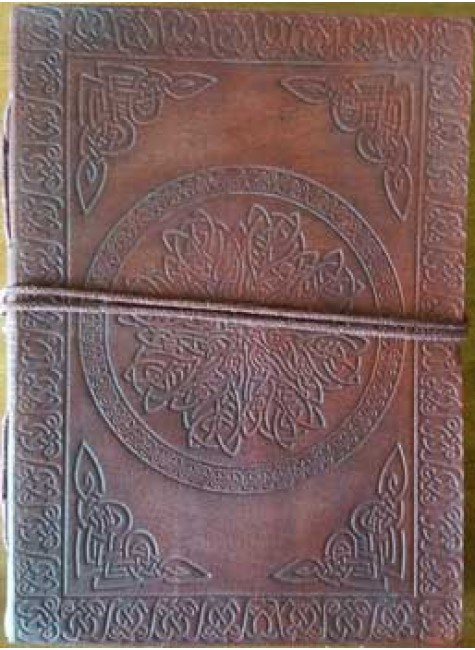 Celtic Mandala Leather Journal at Gothic Plus, Gothic Clothing, Jewelry, Goth Shoes & Boots & Home Decor