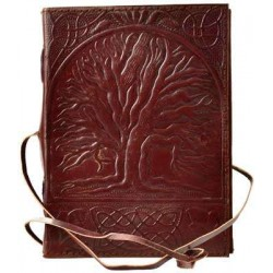 Sacred Oak Tree of Life Leather Journal with Cord Gothic Plus Gothic Clothing, Jewelry, Goth Shoes & Boots & Home Decor