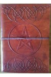 Celtic Heart Pentagram Leather 7 Inch Journal