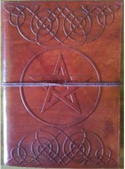 Celtic Heart Pentagram Leather 7 Inch Journal Gothic Plus Gothic Clothing, Jewelry, Goth Shoes & Boots & Home Decor