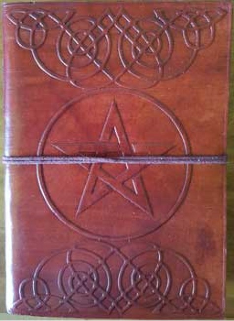 Celtic Heart Pentagram Leather 7 Inch Journal at Gothic Plus, Gothic Clothing, Jewelry, Goth Shoes & Boots & Home Decor