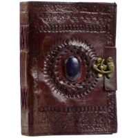 Gods Eye Brown Leather Book of Shadows 7 Inch Journal with Latch