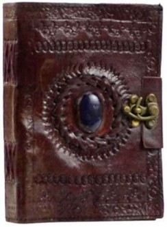 Gods Eye Brown Leather Pocket Journal with Latch Gothic Plus Gothic Clothing, Jewelry, Goth Shoes & Boots & Home Decor