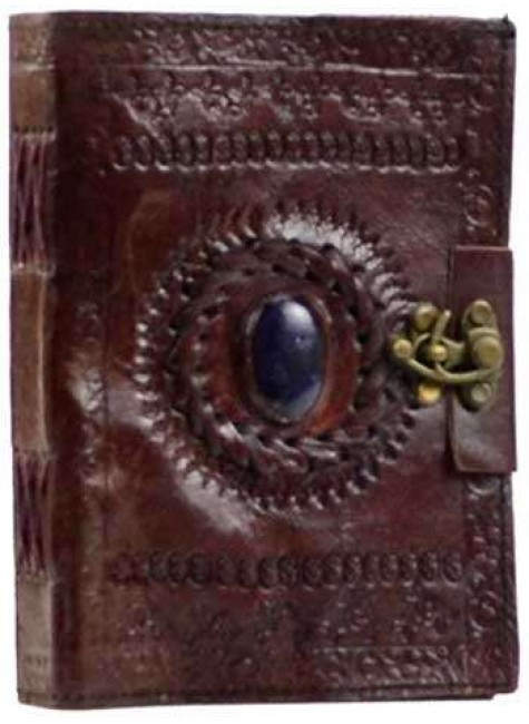Gods Eye Brown Leather Pocket Journal with Latch at Gothic Plus, Gothic Clothing, Jewelry, Goth Shoes & Boots & Home Decor