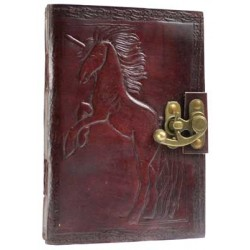 Unicorn Leather 7 Inch Journal with Latch Gothic Plus Gothic Clothing, Jewelry, Goth Shoes & Boots & Home Decor