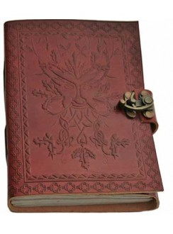 Greenman 7 Inch Leather Journal Gothic Plus Gothic Clothing, Jewelry, Goth Shoes & Boots & Home Decor
