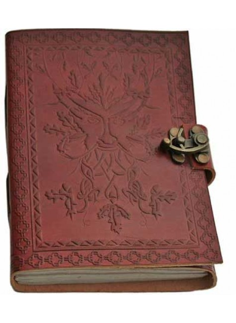 Greenman 7 Inch Leather Journal at Gothic Plus, Gothic Clothing, Jewelry, Goth Shoes & Boots & Home Decor
