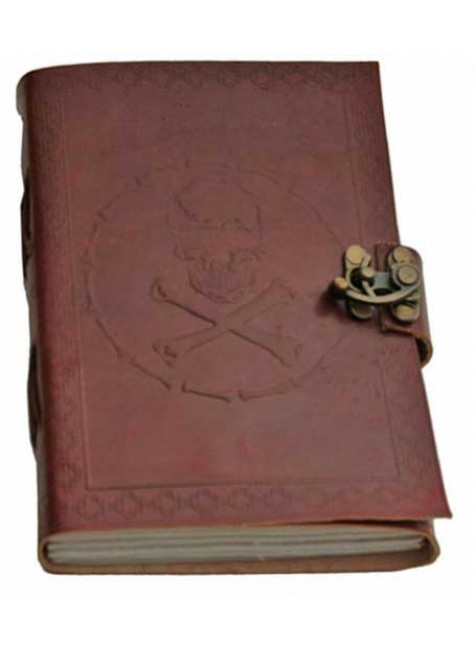 Skull and Bones Leather Journal at Gothic Plus, Gothic Clothing, Jewelry, Goth Shoes & Boots & Home Decor