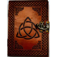 Triquetra 2 Tone Leather 7 Inch Journal with Latch