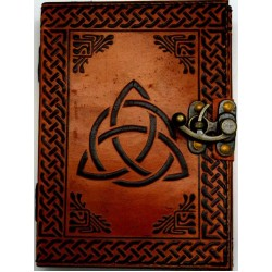 Triquetra 2 Tone Leather 7 Inch Journal with Latch Gothic Plus Gothic Clothing, Jewelry, Goth Shoes & Boots & Home Decor