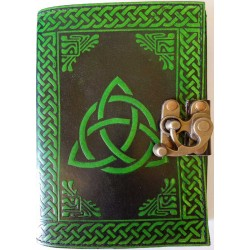 Triquetra Green Leather 7 Inch Journal with Latch Gothic Plus Gothic Clothing, Jewelry, Goth Shoes & Boots & Home Decor