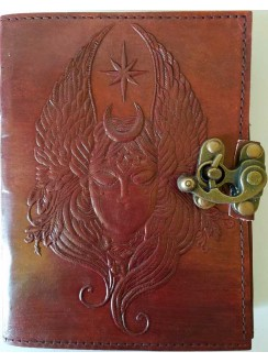 Moon Goddess 7 Inch Leather Journal with Latch Gothic Plus Gothic Clothing, Jewelry, Goth Shoes & Boots & Home Decor