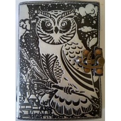 Owl Black and Silver Book of Shadows Journal with Latch Gothic Plus Gothic Clothing, Jewelry, Goth Shoes & Boots & Home Decor
