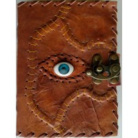All Knowing Eye Stitched Leather Journal with Latch