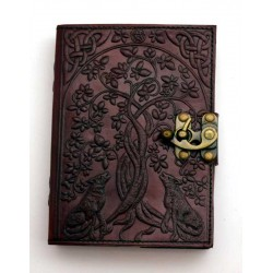 Wolf Tree Leather 7 Inch Journal with Latch Gothic Plus Gothic Clothing, Jewelry, Goth Shoes & Boots & Home Decor