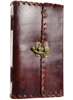 1842 Poetry Leather Blank Book - 9 Inches Gothic Plus Gothic Clothing, Jewelry, Goth Shoes & Boots & Home Decor