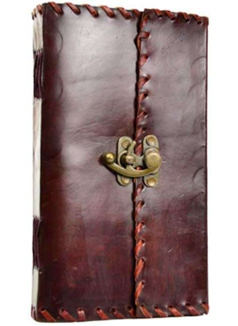 1842 Poetry Leather Blank Book - 9 Inches at Gothic Plus, Gothic Clothing, Jewelry, Goth Shoes & Boots & Home Decor