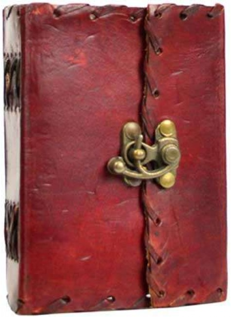 1842 Poetry Leather Blank Small Book - 5 Inches at Gothic Plus, Gothic Clothing, Jewelry, Goth Shoes & Boots & Home Decor