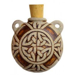 Celtic Knot Clay Oil Bottle Necklace Gothic Plus Gothic Clothing, Jewelry, Goth Shoes & Boots & Home Decor