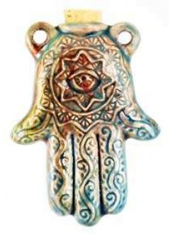 Hamsa Hand Raku Oil Bottle Necklace Gothic Plus Gothic Clothing, Jewelry, Goth Shoes & Boots & Home Decor