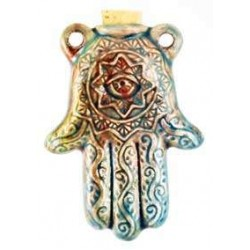 Hamsa Hand Raku Oil Bottle Necklace Gothic Plus  Gothic Clothing, Jewelry, Goth Shoes, Boots & Home Decor