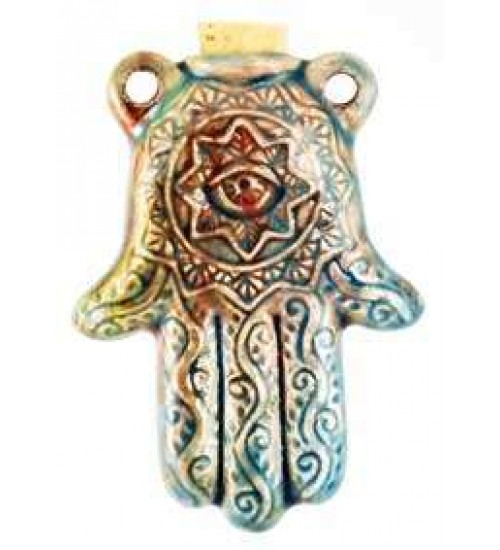 Hamsa Hand Raku Oil Bottle Necklace at Gothic Plus,  Gothic Clothing, Jewelry, Goth Shoes, Boots & Home Decor
