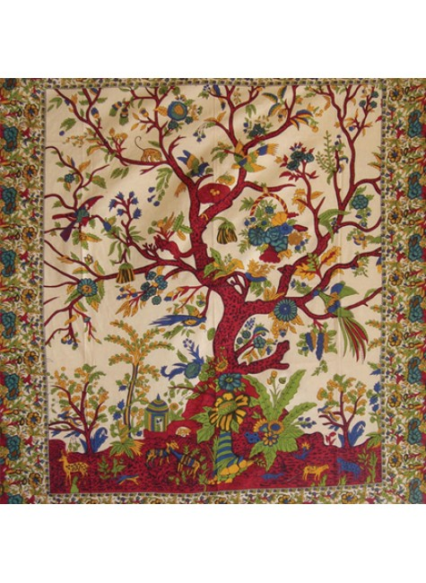 Tree of Life Single Tapestry at Gothic Plus, Gothic Clothing, Jewelry, Goth Shoes & Boots & Home Decor