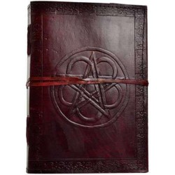 Pentagram Leather 10 Inch Journal with Cord Gothic Plus Gothic Clothing, Jewelry, Goth Shoes & Boots & Home Decor
