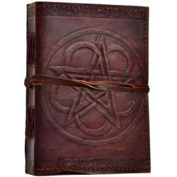 Pentagram Leather Journal with Cord Gothic Plus Gothic Clothing, Jewelry, Goth Shoes & Boots & Home Decor