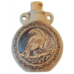Raven Raku Oil Bottle Necklace Gothic Plus Gothic Clothing, Jewelry, Goth Shoes, Boots & Home Decor