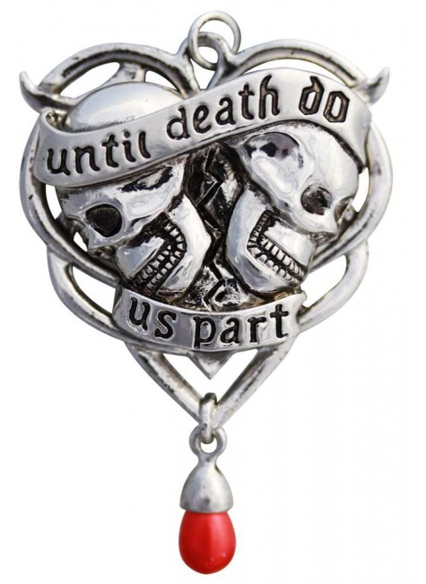 Until Death Gothic Lovers Necklace at Gothic Plus, Gothic Clothing, Jewelry, Goth Shoes & Boots & Home Decor