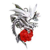 Draco Rosa Gothic Rose Necklace by Anne Stokes