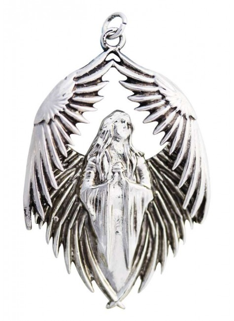 Prayer for the Fallen Angel Necklace at Gothic Plus, Gothic Clothing, Jewelry, Goth Shoes & Boots & Home Decor